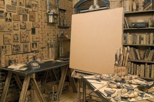 Image That Looks Like A Blank Canvas was Waiting For An Artist to Explore His Work.
