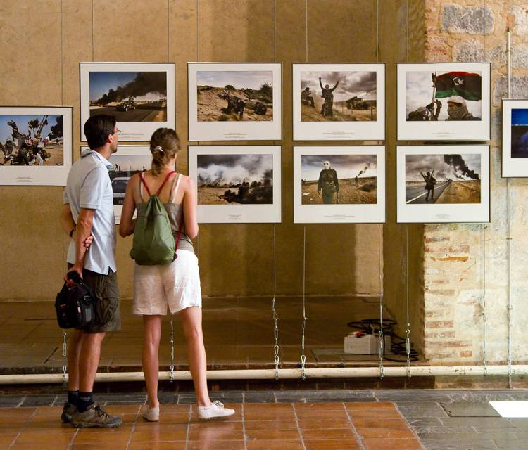 Image Of Photography Exibition which was viewed By Two Viewers