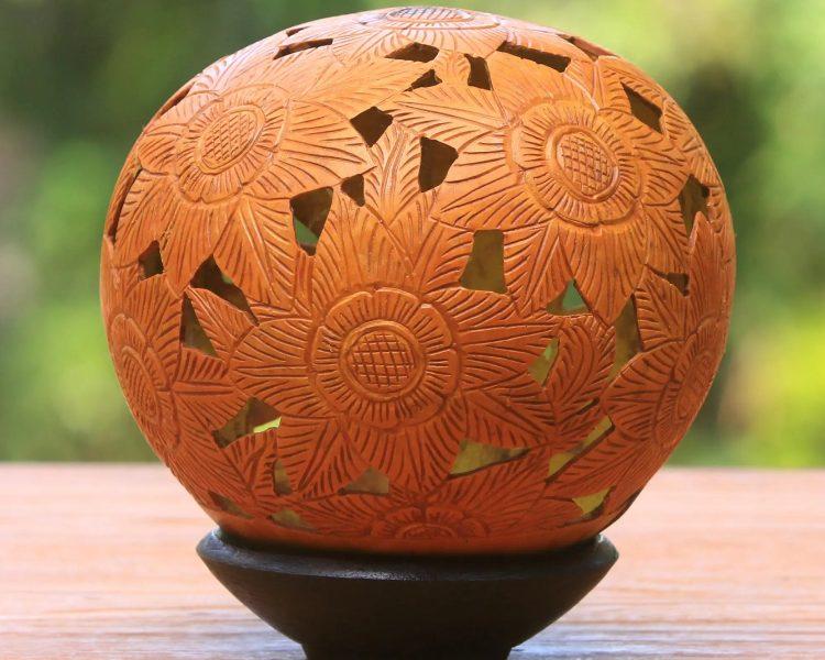Coconut shell artistry