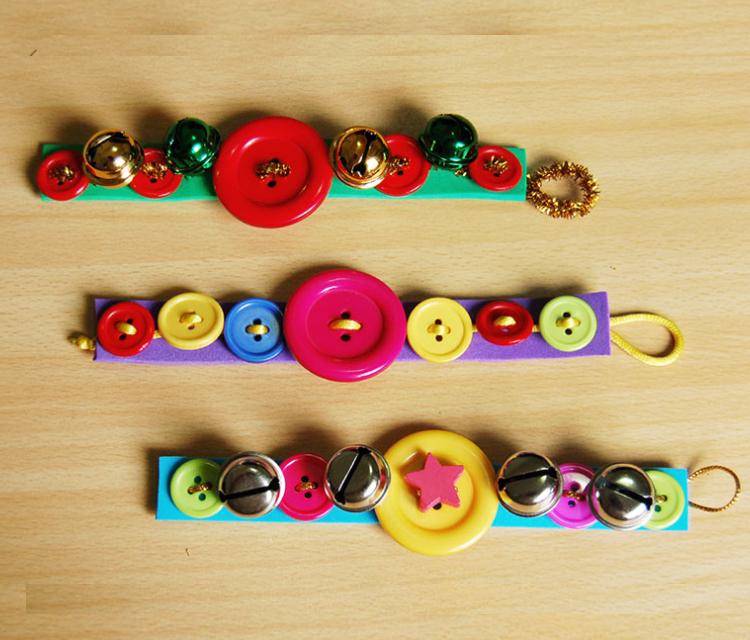 Pretty Button Bracelets For Kids.