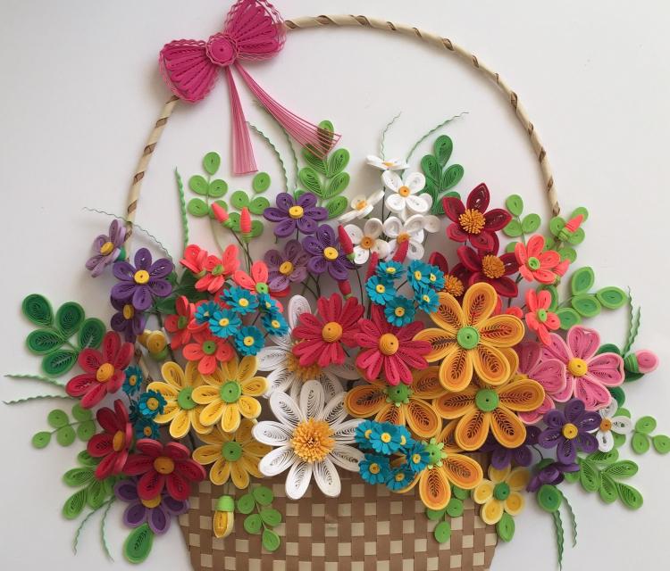 Craft Quilling - Flower Basket