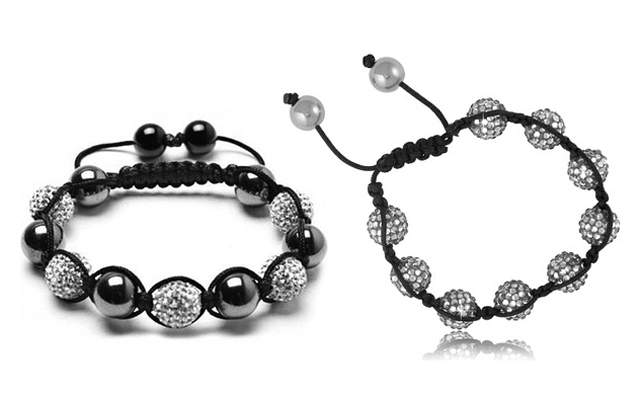 DIY Crafts Jewelry Bracelet Isolated In White background.