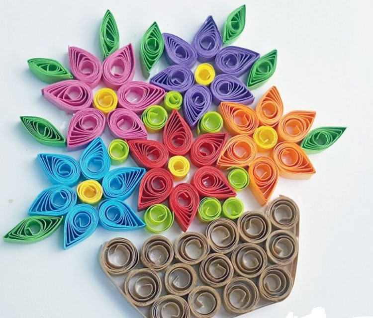 A Flower Basket - Craft Quilling