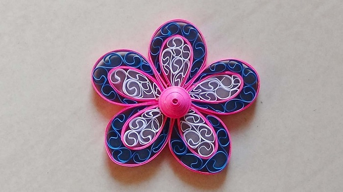 Craft Quilling On White Background.