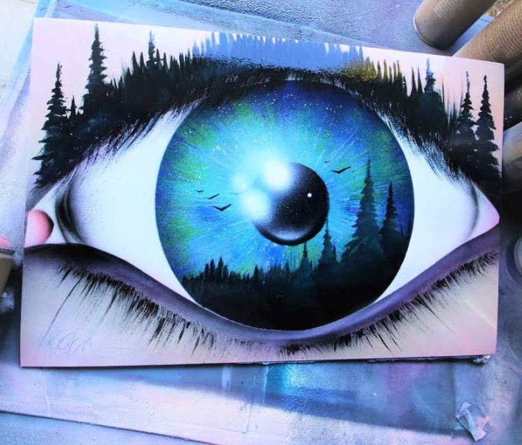 Spray painting Of An Eye