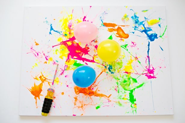 Water Color Painting With Balloons