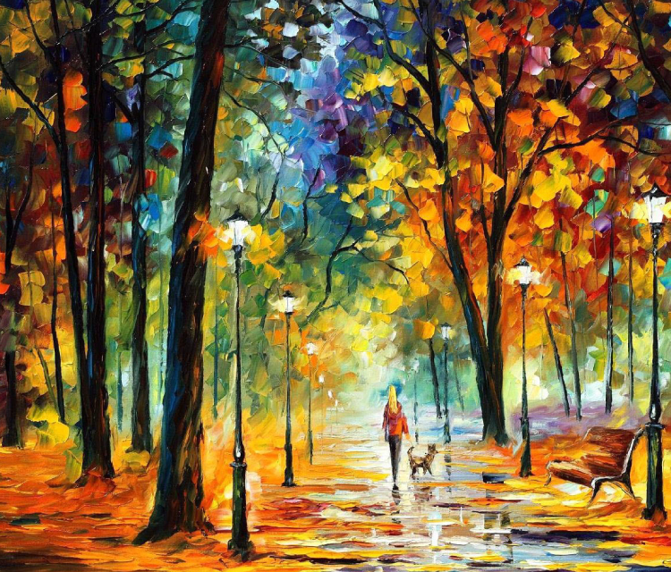 Nature Painting - A View Of Autumn Season