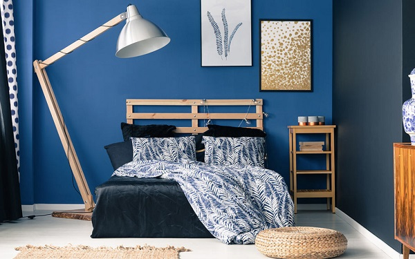 Painting Ideas for Bedroom with Hues of Blues