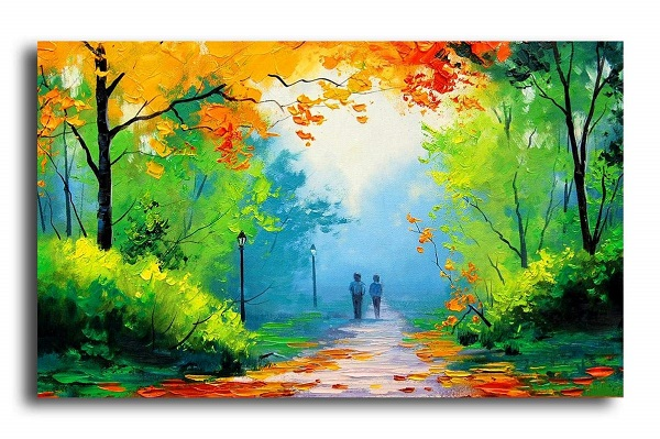 Oil Painting On Canvas - Nature View.