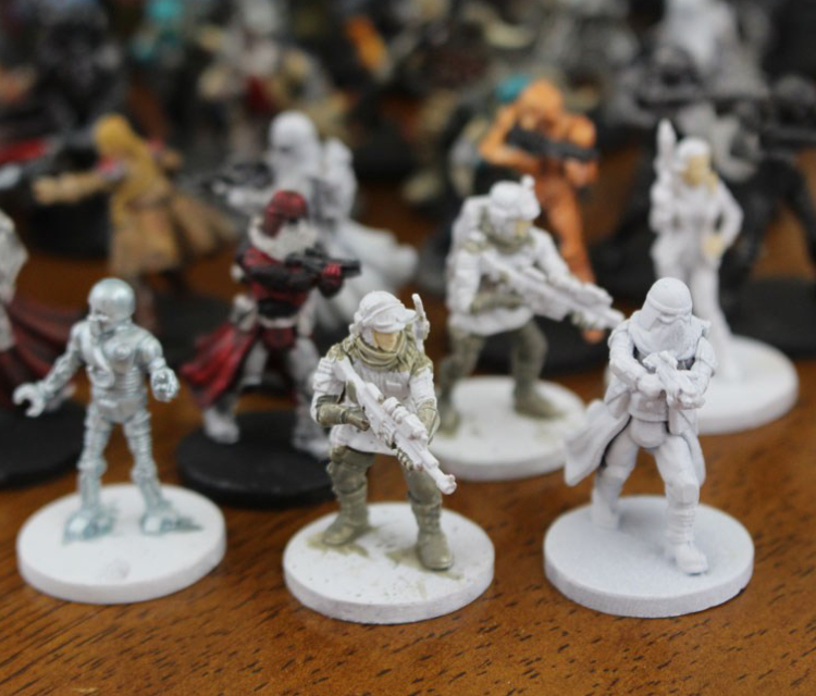 White Colored Miniatures
