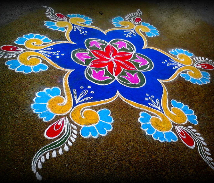 Rangoli Painting On The Floor