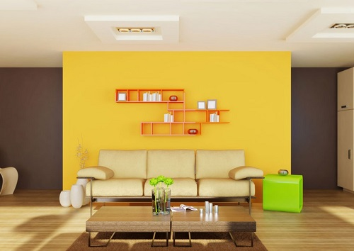 Yellow Colored Ceiling Ideas.
