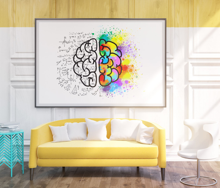Image representing how art boosts productivity in office.